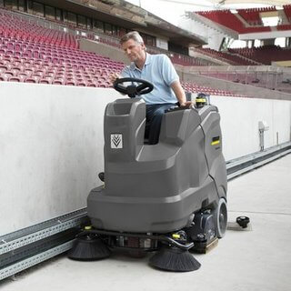ride on floor sweeper hire